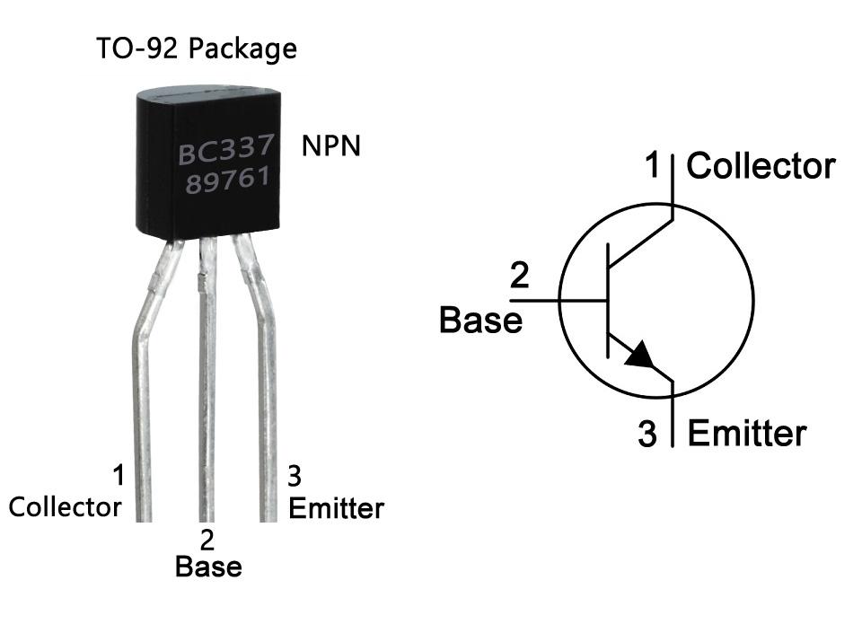 10 x BC337 NPN Bipolar General Purpose Transistor TO-92