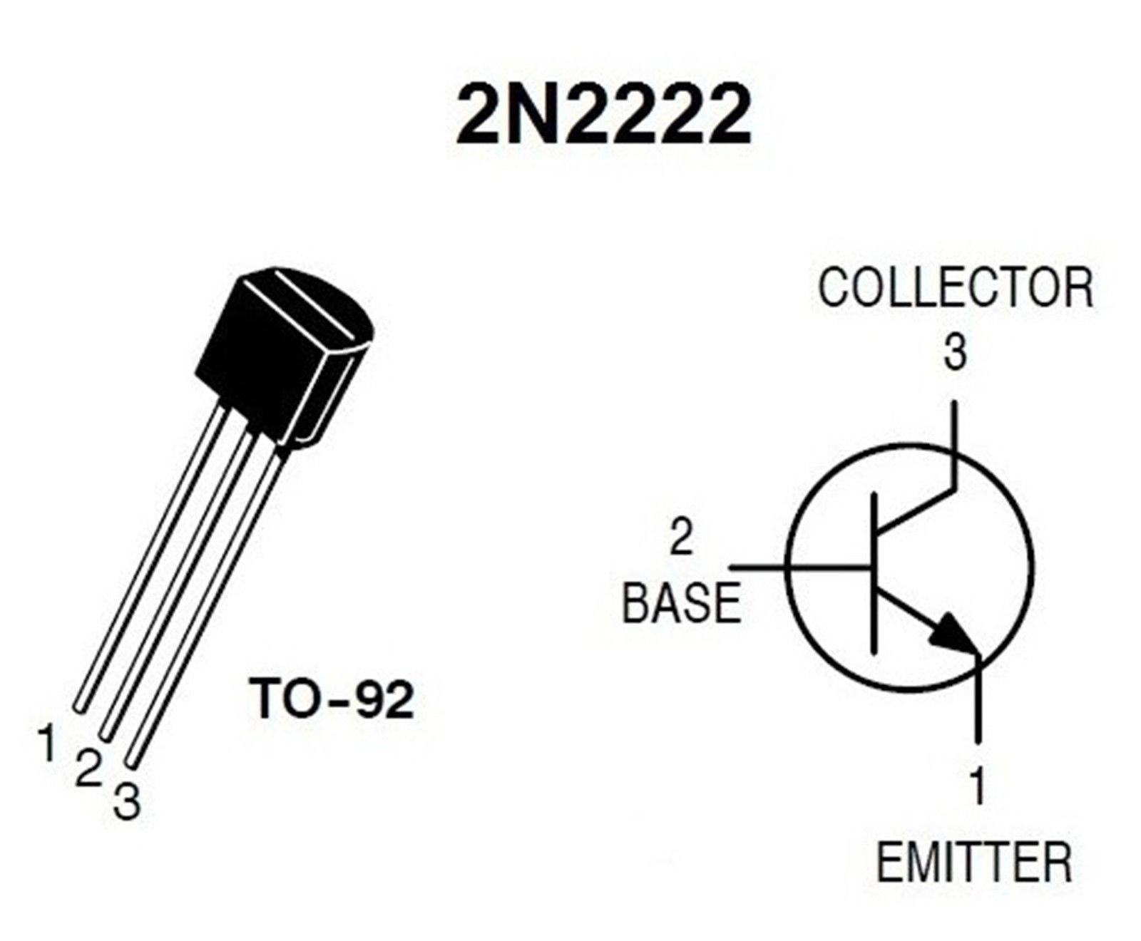 10 x 2n2222 npn bipolar general purpose transistor to