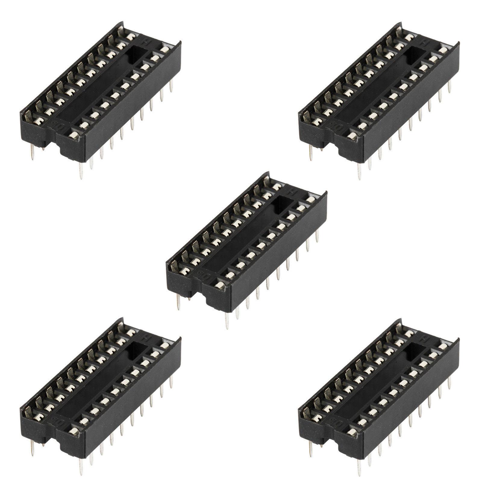 5 x 16-Pin DIP DIL PCB IC Socket