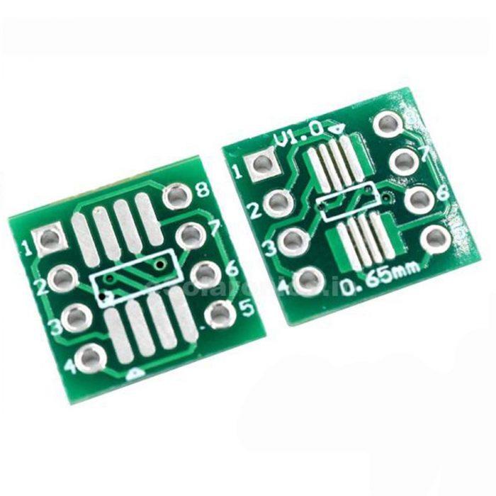 20PCS SOP8 SO8 SOIC8 TSSOP8 MSOP8 to DIP8 Adapter PCB DIY Conveter Board P*EC