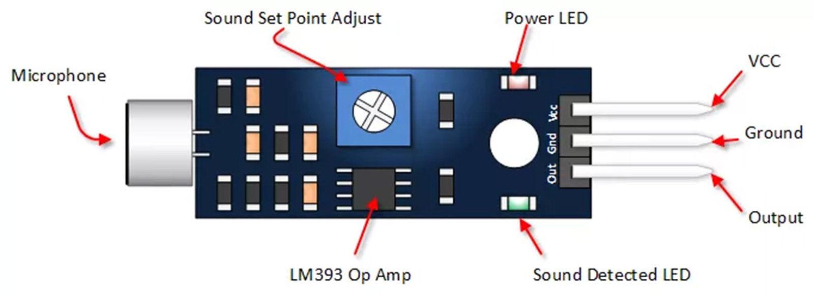 Electret Condenser Sound Detection Module All Top Notch Power The Mic Through Arduino Uno As Shown In Circuit Diagram