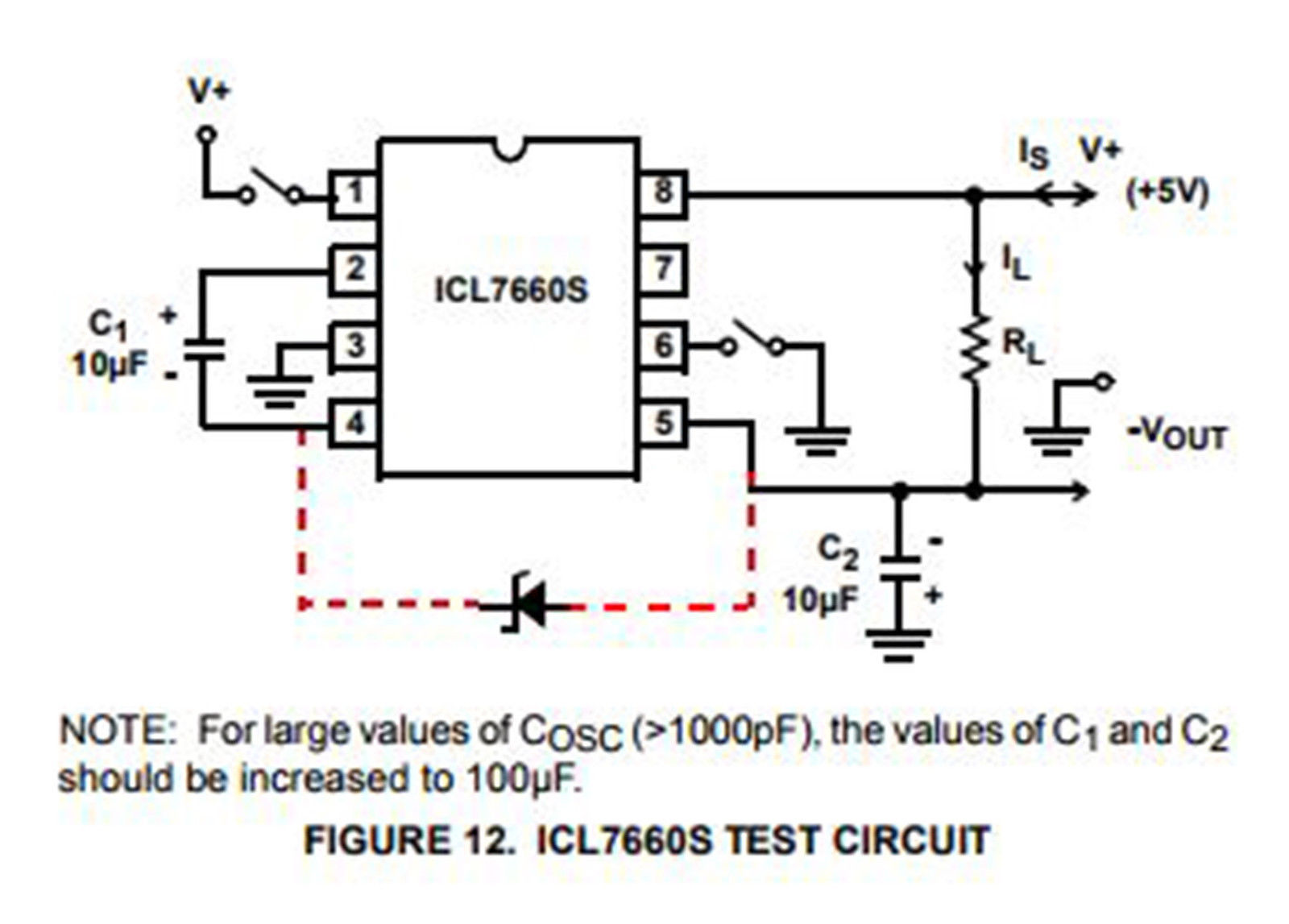 2 X Icl7660scpaz Cmos Voltage Converter Ic Dip 8 All Top Notch Figure Boost Circuit Diagram