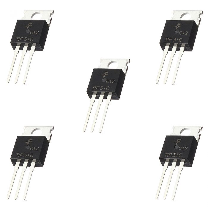 5 x tip31c npn power transistor linear switching amplifier to 220 ebay. Black Bedroom Furniture Sets. Home Design Ideas