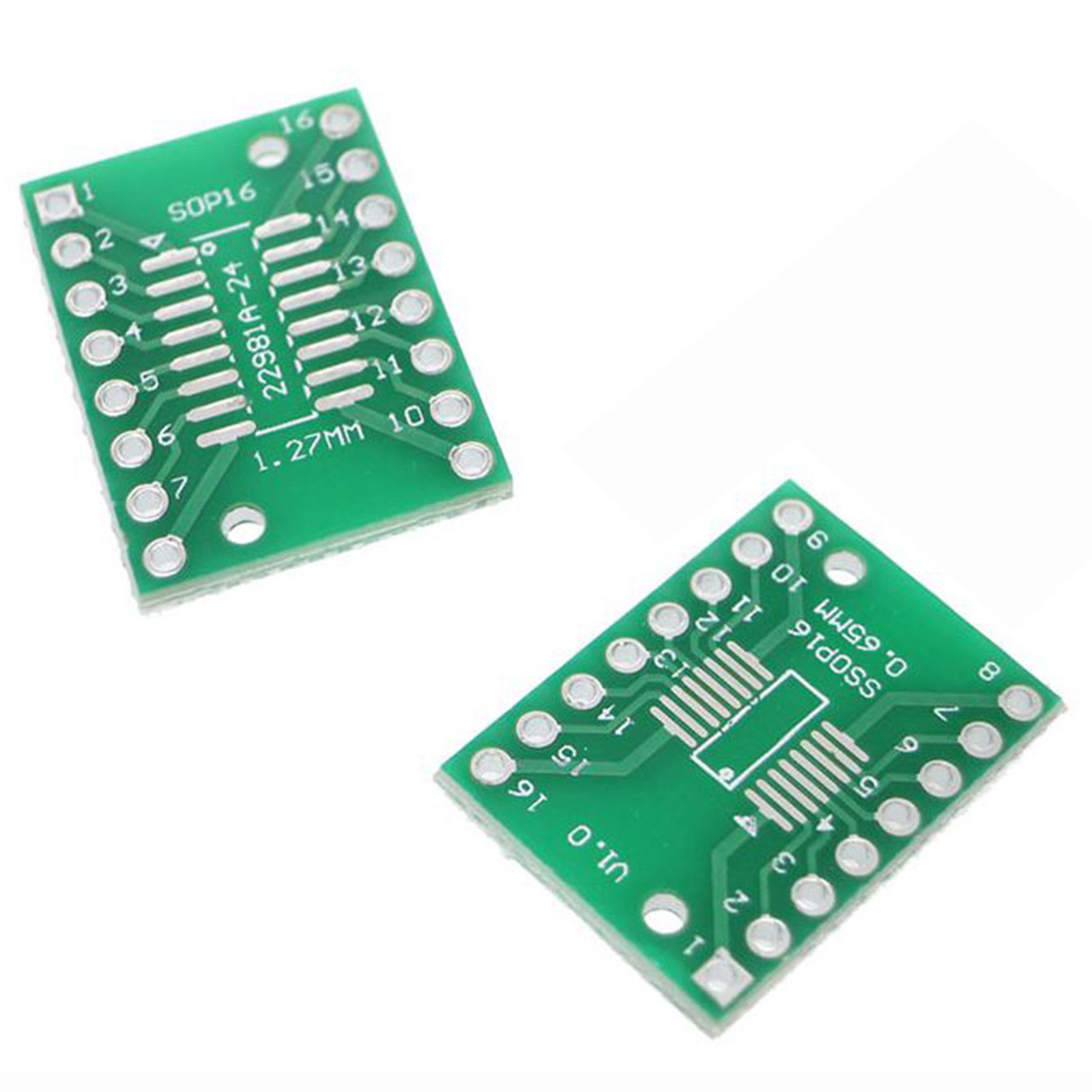 2 X Sop16 S016 Soic16 Tssop16 Msop16 To Dip16 Adapter Board All Small Outline Integrated Circuit Soic And Sop