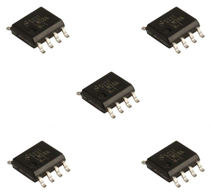 5 x LM386M SOP8 Low Voltage Audio Power Amplifier LM386M-1 5PCS LM386