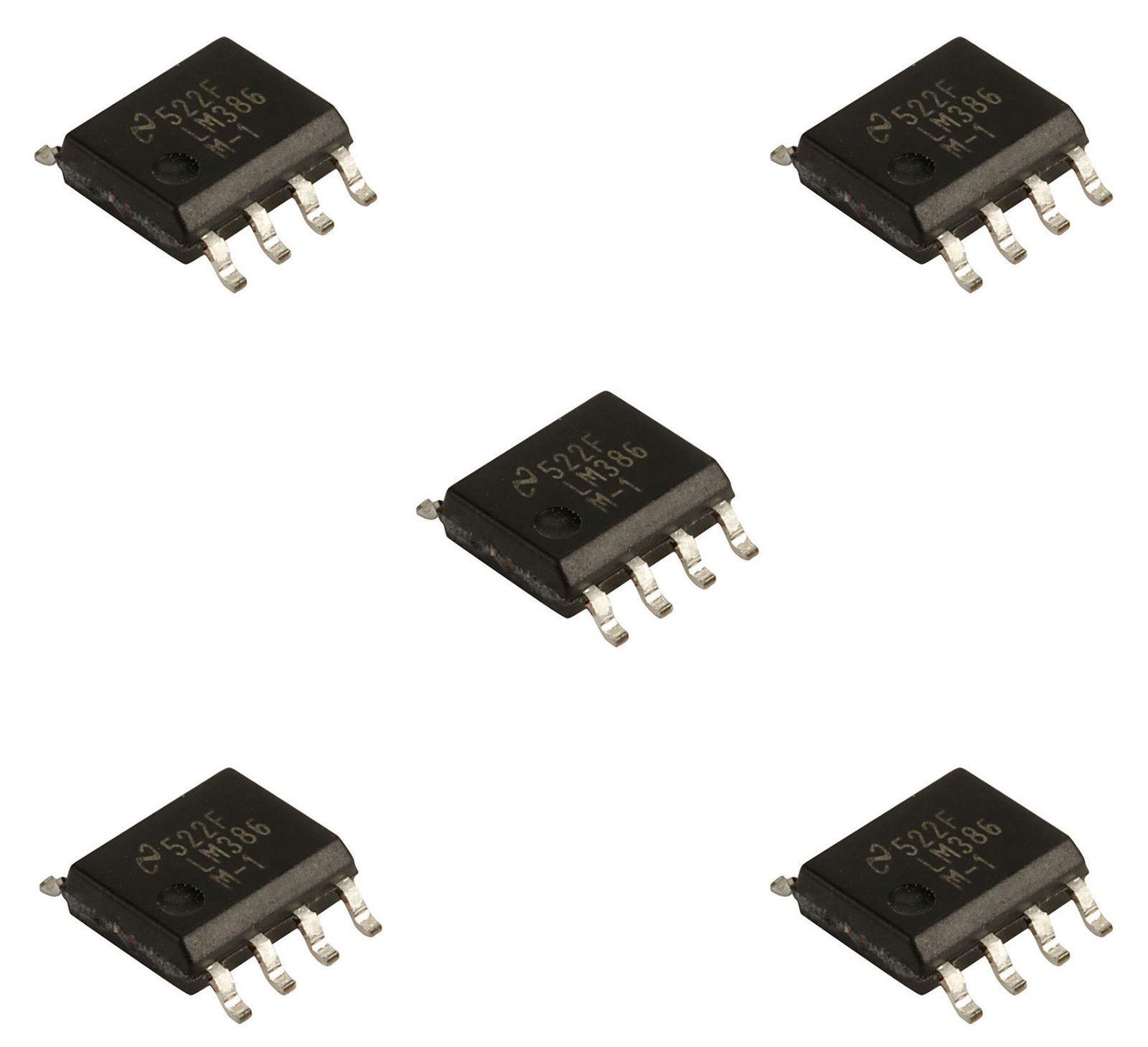 5 X Lm386m Sop 8 Low Voltage Audio Power Amplifier All Top Notch Circuit Diagram Using Lm386