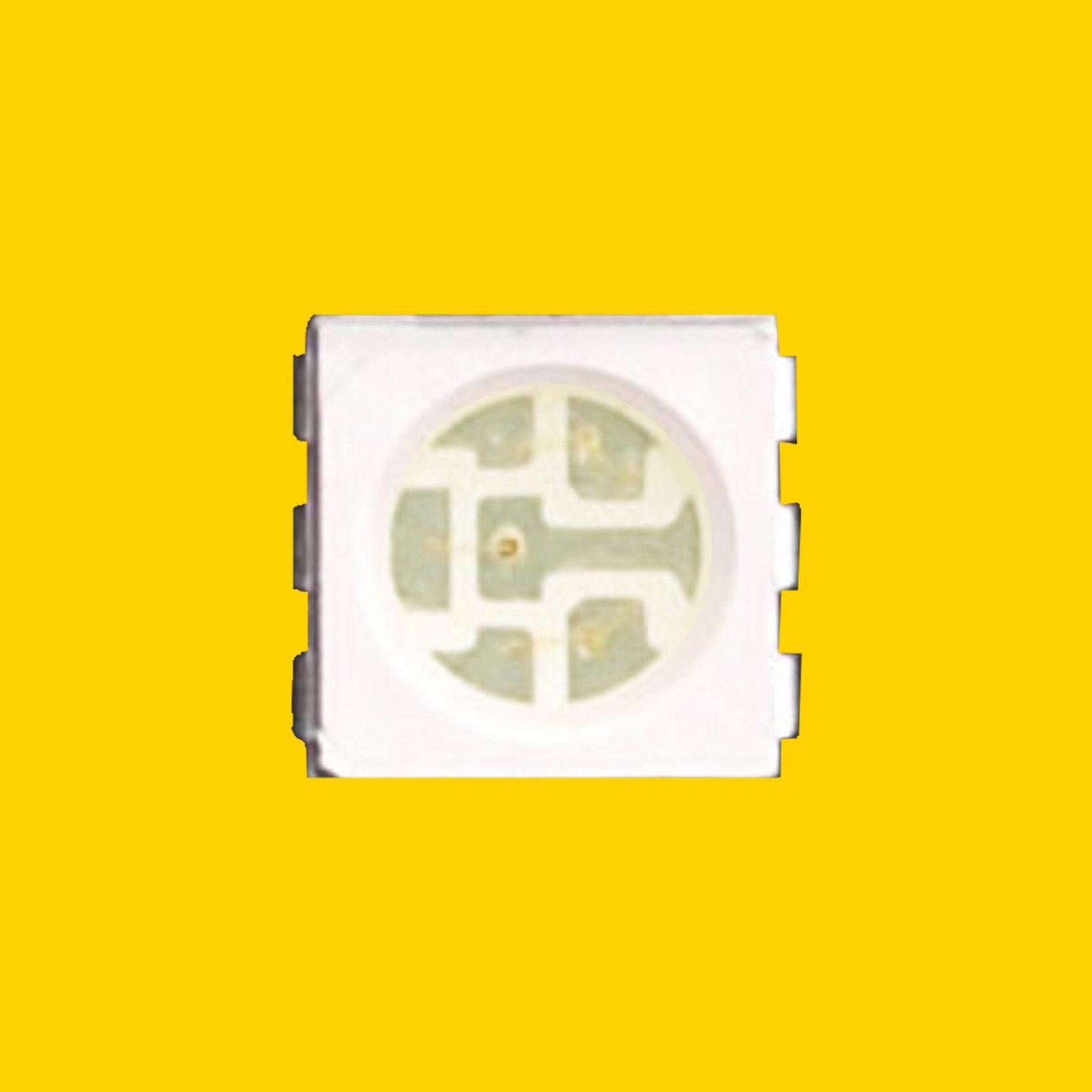 SMT LED Chip 10 x White 5050 PLCC-6 SMD