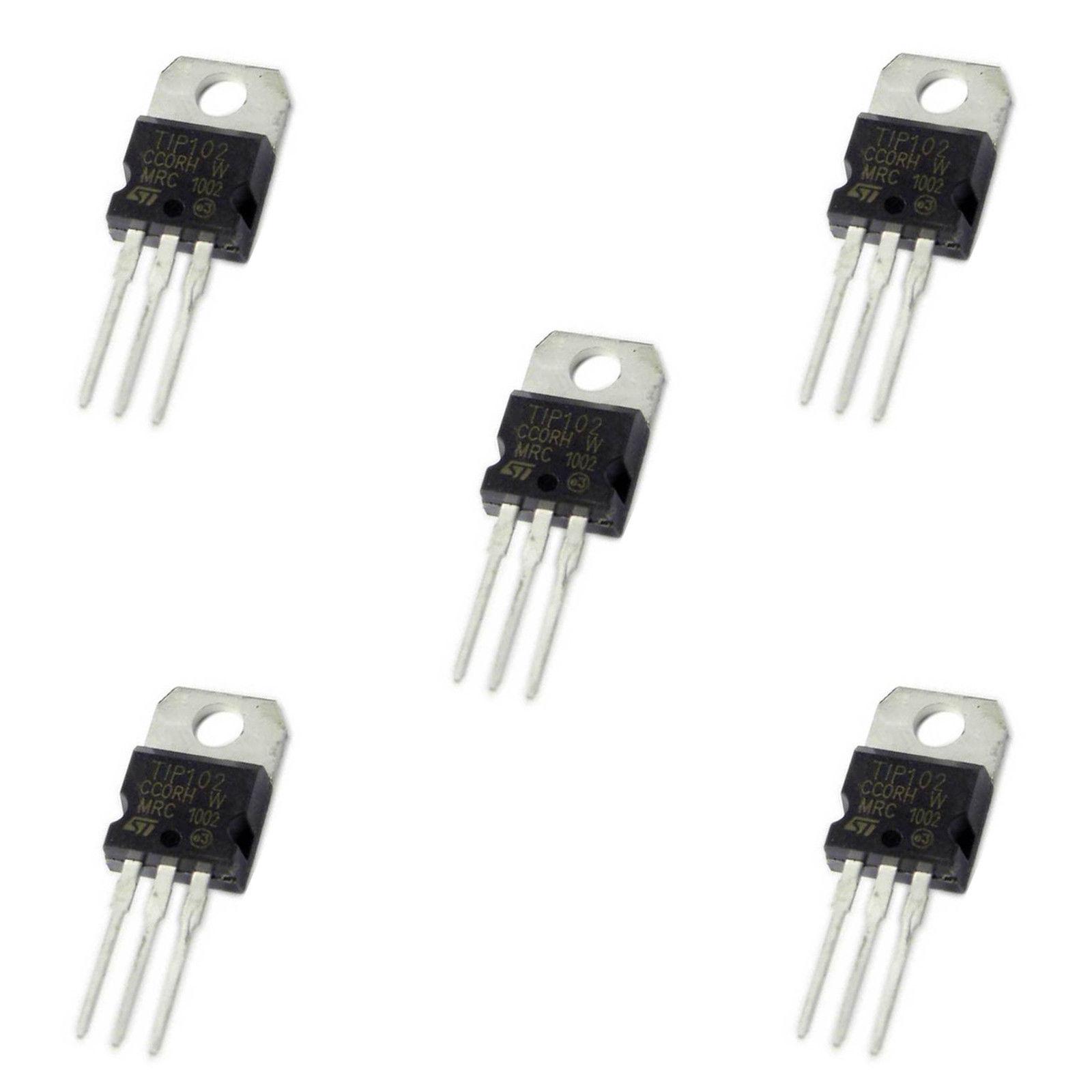 5 X Tip102 Npn Epitaxial Planar Silicon Darlington Transistor To 220 Configuration