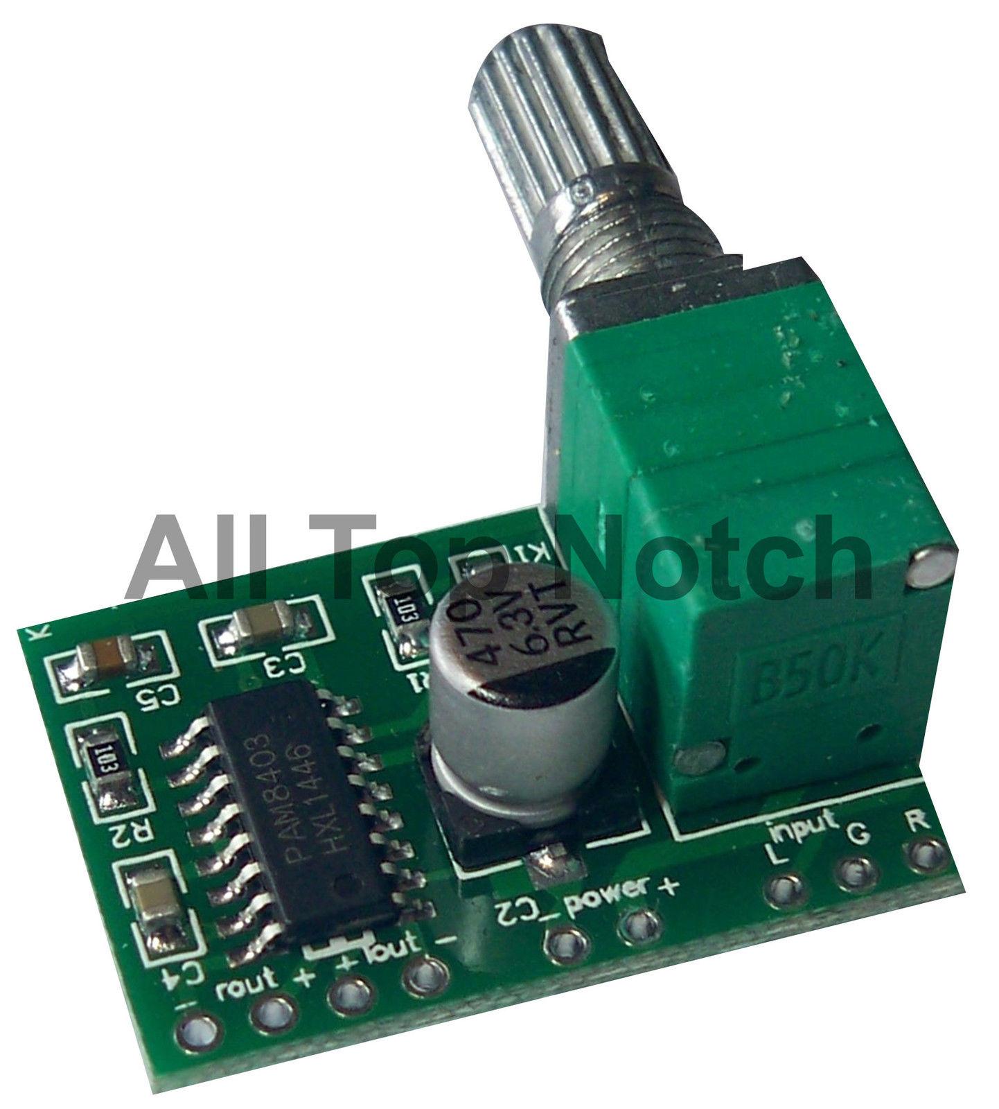 Pam8403 3w Mini Digital Stereo Amplifier Module Volume