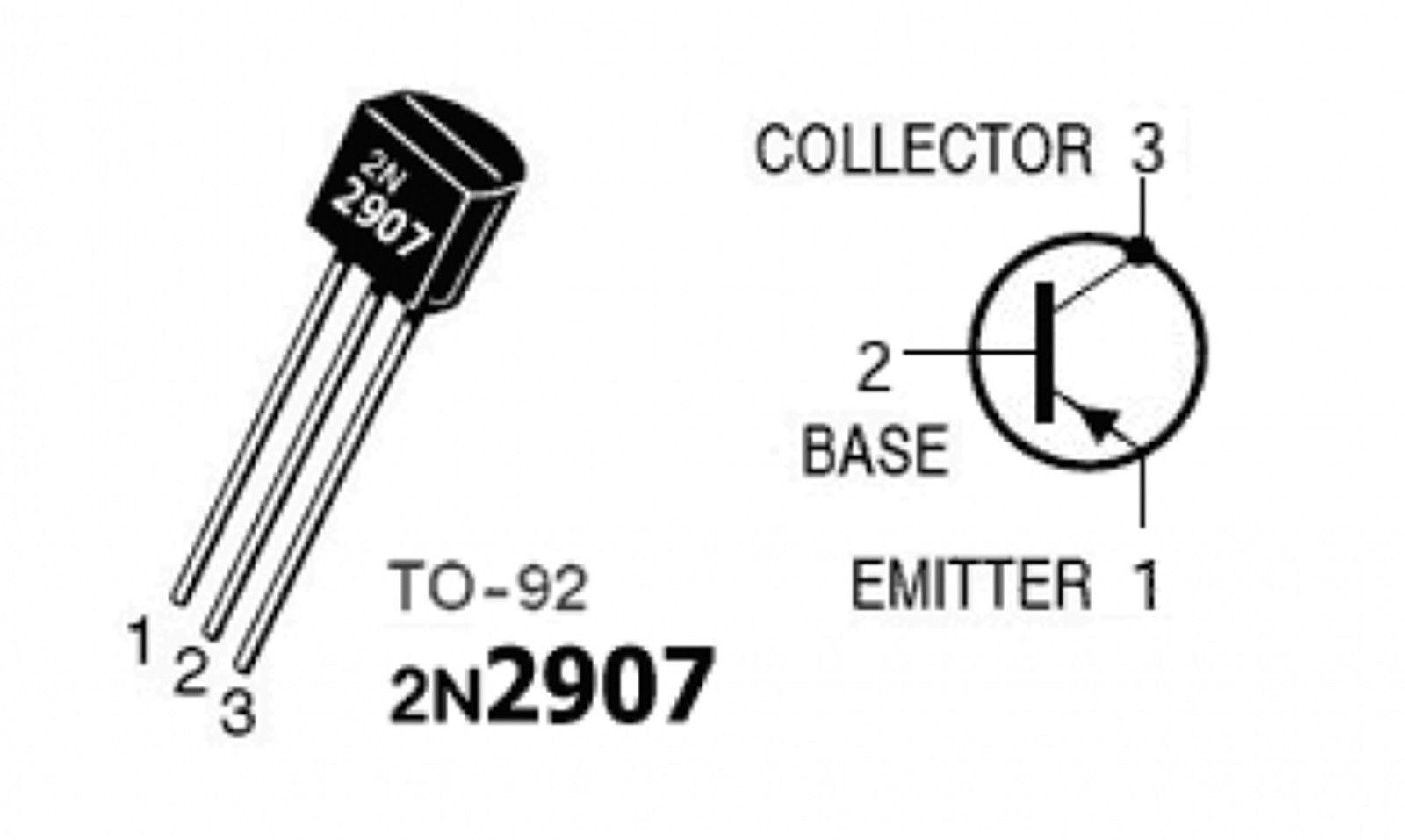 10 x 2n2907 pnp bipolar transistor to